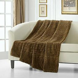 Chic Home 1 Piece Crocodile Faux Fur Collection! 50 x 60 Thr