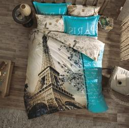 100 Cotton 7pcs Paris in Autumn Full Double Size Comforter S