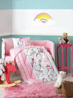 100% Cotton Unicorn Bedding Quilt/Comforter Set for Cribs Ba