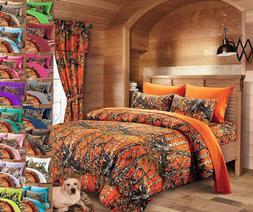 Regal Comfort The Woods Reversible Comforter 1 PC Orange Cam