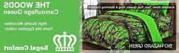 12 pc set Biohazard Woods Camo Queen size comforter sheets p