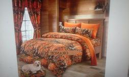 17 piece orange comforter set by