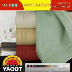 1800 Count 100% Egyptian Comfort Extra Soft Bed Sheet Set De