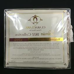 Clara Clark 1800 Premier Series 4pc Bed Sheet Set -King- Tan