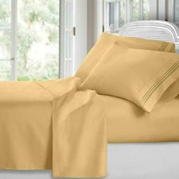 Clara Clark 1800 Premier Series 4Pc Bed Sheet Set - King, Ca