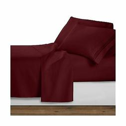 Clara Clark 1800 Premier Series 4pc Bed Sheet Set - King Bur