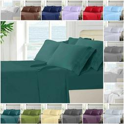 Bed Sheet Set 6 Piece Egyptian Comfort 1800 Count Bedding De