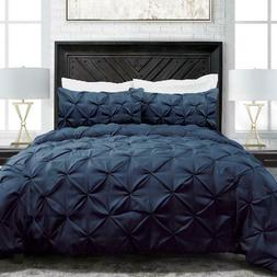Sleep Restoration 1900 Series Pintuck Style 3 Piece Luxury G