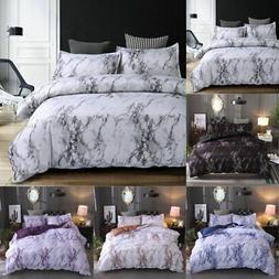 2/3 Pieces Set Comforter /Duvet Cover Quilt Marble Printed P