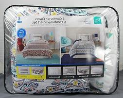 MainStays 2 Comforter Covers & Insert Set w/ Matching Shams