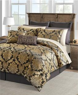 Sunham Carrington 20-Pc Woven Jacquard 2 Sheet Set + Comfort