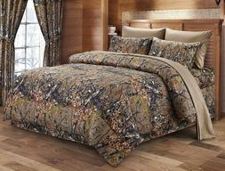 22 pc Natural Brown Camo King Comforter sheets pillowcases w