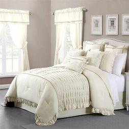 24 piece comforter set Antonella Sand king
