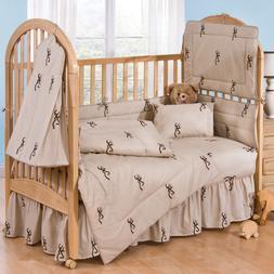 3-8 PC Tan Buckmark Crib Nursery Set by Browning Add Comfort