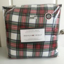 TOMMY HILFIGER 3 PC Comforter Set~HEAVY FLANNEL~RED STEWARD