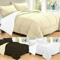 3 PC Goose Down Alternative  Polyester Filled Reversible Com