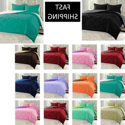 3 pc Reversible Down Alternative Comforter Set All Size and