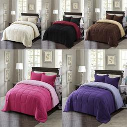 Down Alternative Comforter Set All Season Reversible Comfort