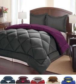 3 Piece Down Alternative Reversible Comforter and Pillow Sha