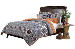 Greenland Home 3 Piece Medina Quilt Set, Full/Queen, Saffron