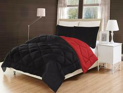 3-Piece Reversible Down Alternative Comforter Set and Shams