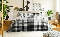 3 Piece Sherpa Flannel Down Alt Comforter Coverlet Bedspread