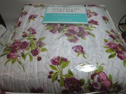 3 pieces Traditions by Waverly PRIMROSE PATIO- Violet Floral