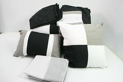 Chic Home 35CQ112-AN 8 Piece Embroidery Comforter Set Queen
