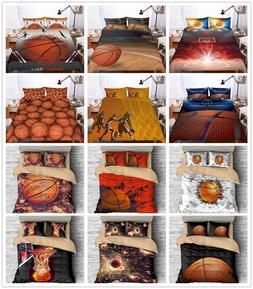 3D Basketball Sport Boy Bedding Set Duvet Cover Pillowcase Q