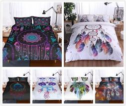 3D Bohemia Dream Catcher Duvet Cover Pillowcase Quilt Cover