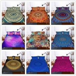 3D Bohemia Painting Comforter Cover Set Boho Duvet Cover Pil