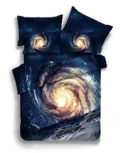 HomeBlove 3d Galaxy Duvet Covers Bedding Sets, Twin/Full Com