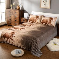 3D Horse Bedding <font><b>Set</b></font> <font><b>Animal</b>