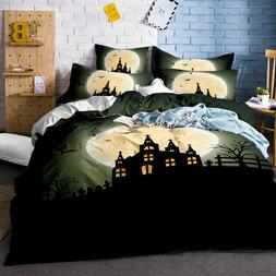 3d moon night halloween bedding set duvet