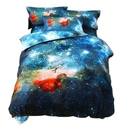 YOUSA 3D Mysterious Boundless Galaxy Quilt Cover Outer Space
