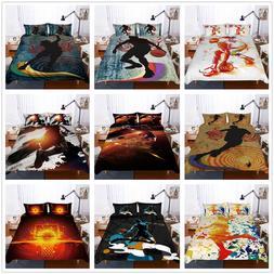 3D NBA Sport Basketball Duvet Cover Bedding Set Boys Quilt/C