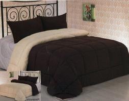 Clara Clark 3Pc Down Alternative Reversible Comforter with P