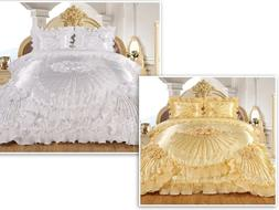 3pc Hiyam Real 3D Burgundy Comforter Set Bedspread Flower Ru