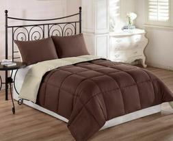 3pcs Super Soft Reversible Down Alternative Comforter Set Qu