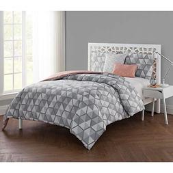 VCNY Home 4 Piece Brynley Comforter Set, Twin X-Large, Grey