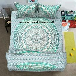 4pc bohemian bedding set with queen comforter cover, bed cov