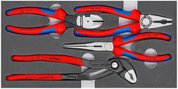 Knipex 4pc Pliers Set Cobra, Cutter, Long Nose, Combination