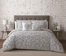 5 Piece Audrey Seafoam/Gray Comforter Set Full