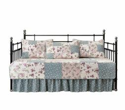 5-Piece Garden Floral Patchwork Twin Daybed Cover Bedding 10