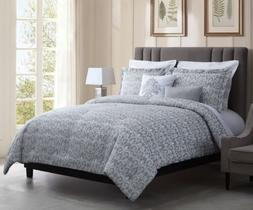 Chezmoi Collection 5pcs Gray White Textured Jacquard Woven F