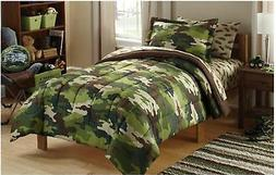 5pc CAMO Twin-Single COMFORTER+SHAM+SHEETS Set Bed in a Bag