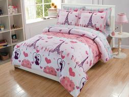 Fancy Linen 5pc Twin Size Comforter Set Eiffel Tower Paris H