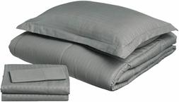 Sweet Home Collection 6 Piece Bed in a Bag with Dobby Stripe