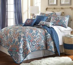 6 Piece Comforter Quilt Bedspread Set Bedding Luxury Arcadia