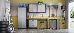 6-Piece Fortress Textured Garage Set with Cabinets, Wall Uni